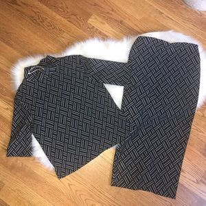Zara black and white sweater & skirt set  Small